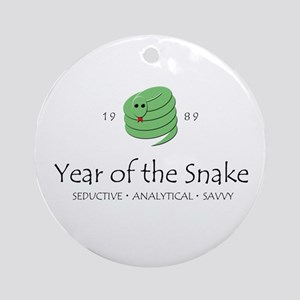 """Year of the Snake"" [1989] Ornament (Round)"